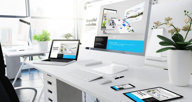 office responsive devices builderwebsite 3d rendering